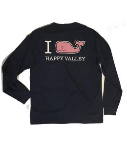 "Vineyard Vines ""I WHALE Happy Valley"" L/S Tee"