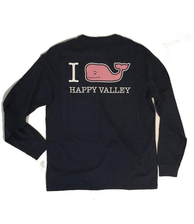 "Vineyard Vines ""I WHALEY Love Happy Valley"" L/S Tee"