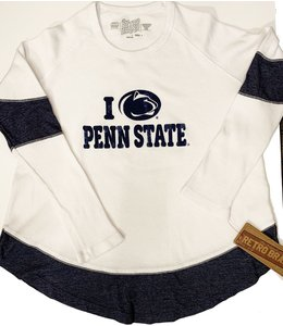 Original Retro Brand WOMENS I Love Penn State Contrast Thermal
