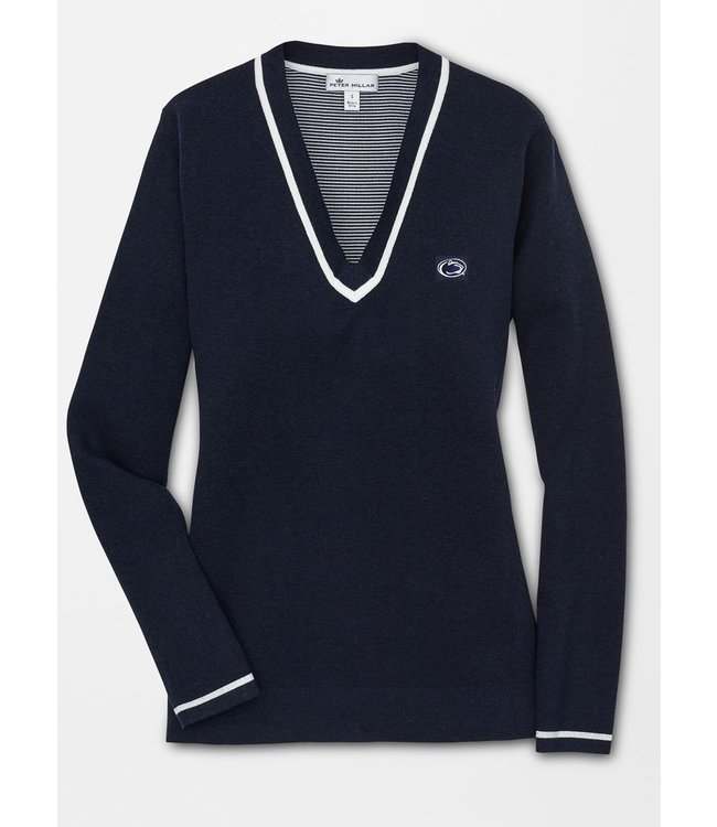 Peter Millar WOMENS PSU V-Neck Cotton Blend Sweater