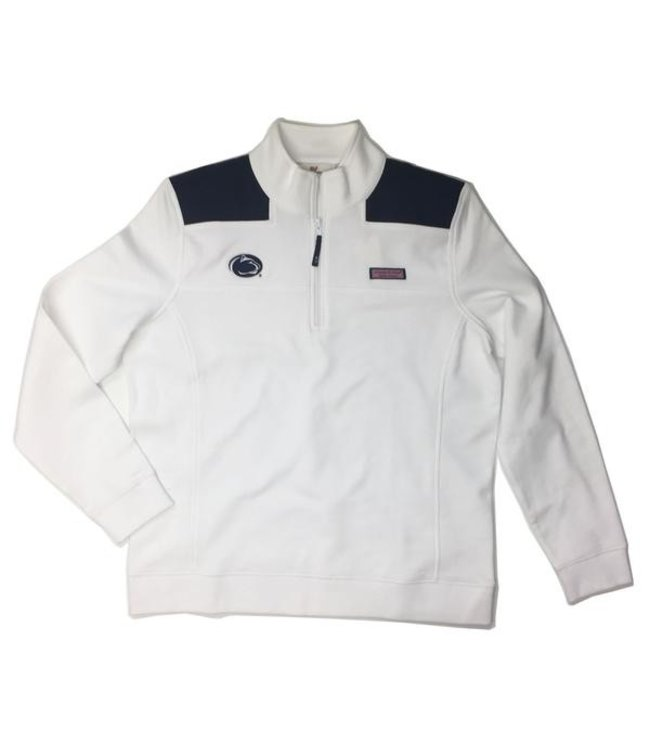 Vineyard Vines WOMEN'S Shep Shirt White w/ Navy Shoulder