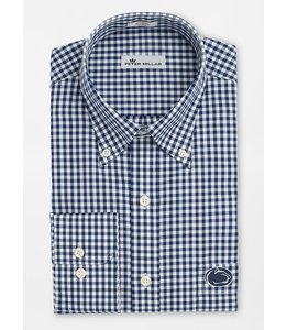 Peter Millar PSU Crown Soft Gingham Dress Shirt