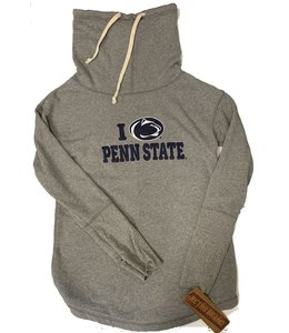 Original Retro Brand WOMENS I Love Penn State Funnel Neck Hoodie