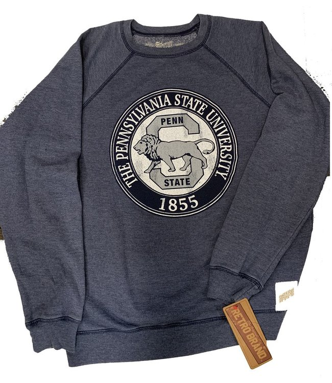 Original Retro Brand Penn State Lion S Seal Logo Crew Neck Fleece