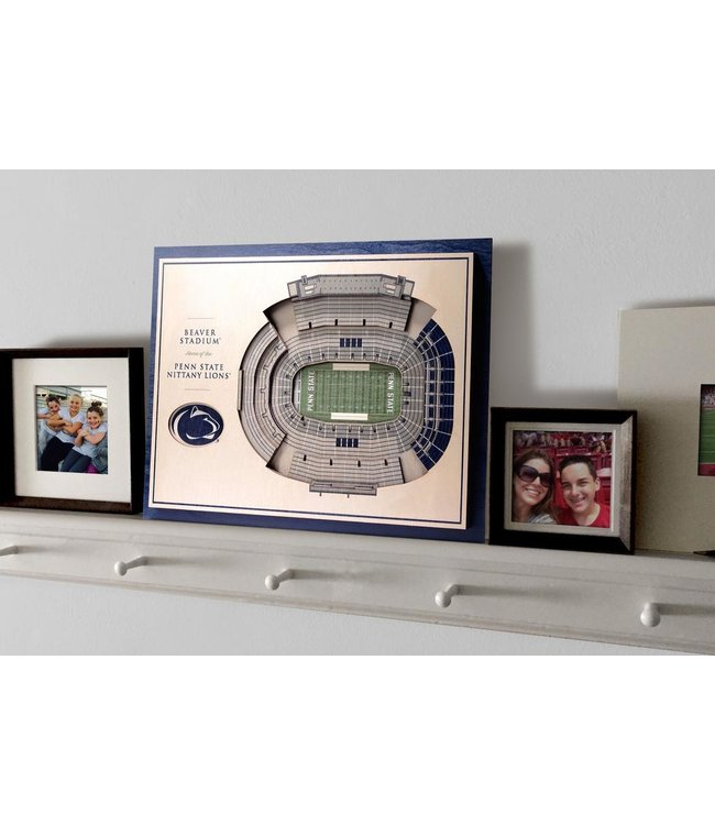 YouTheFan! 5 Layer Beaver Stadium 3D Wall Art