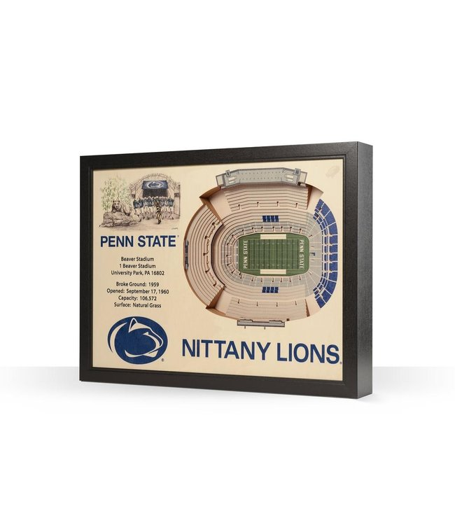 YouTheFan! 25 Layer Beaver Stadium 3D Wall Art
