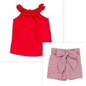 Bailey Boys Red Windowpane Short Set