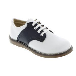 Footmates Cheer White/Navy Saddle Oxfords