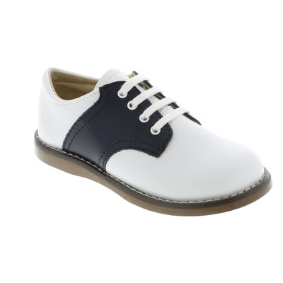 Footmates Cheer White/Navy Saddle Oxfords