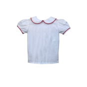 Lullaby Set White Blouse w/Red Piping