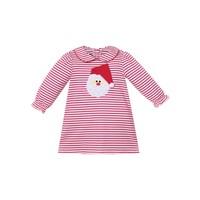 Zuccini Santa Applique Red Stripe Dress