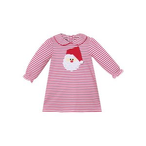 Zuccini Santa Applique Red Stripe Dress