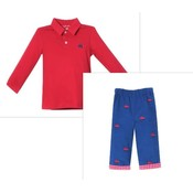 Zuccini Car Embroidered Pant Set