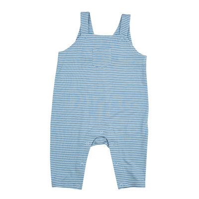 Angel Dear Wild Horses Pocket Blue Stripe Overall