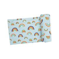 Angel Dear Rainbows Blue Multi Swaddle Blanket