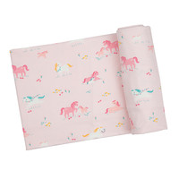 Angel Dear Girl Ponies Swaddle Blanket