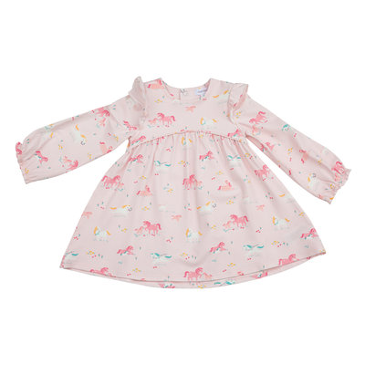 Angel Dear Girl Ponies Ruffle Dress and Legging