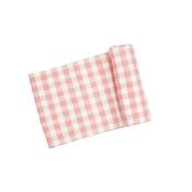Angel Dear Gingham Pink Swaddle Blanket