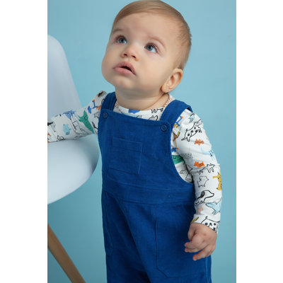 Angel Dear Blue Corduroy Coverall