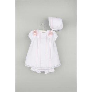 Luli & Me White Randall & Lace Viella Dress