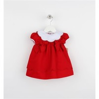 Sophie & Lucas Red Scallop Collar Dress