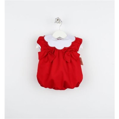 Sophie & Lucas Red Scallop Collar Bubble