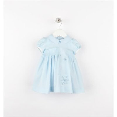 Sophie & Lucas Blue Snowy Sweet Pleat Dress