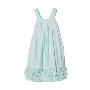Isobella & Chloe Lt Blue Flora Dance Dress - Roses Across Bottom