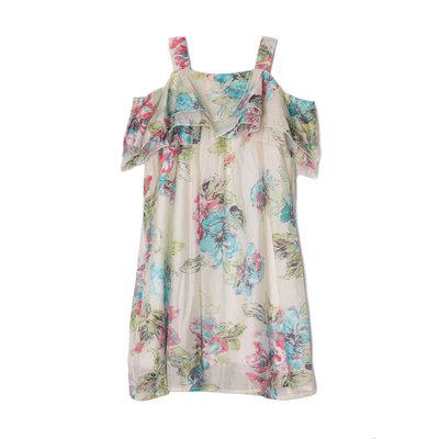 Isobella & Chloe Ivory Fleurette Strap Dress
