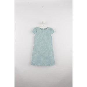 Gabby Blue Boucle A-line Dress