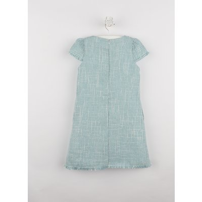 Gabby Blue Boucle A-line Dress