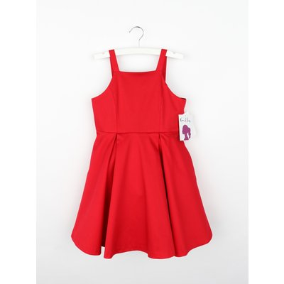 Gabby Red Serena Satin Dress