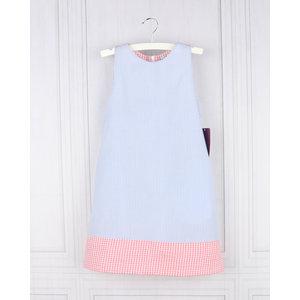 Gabby Blue Scallop Back A-line Dress
