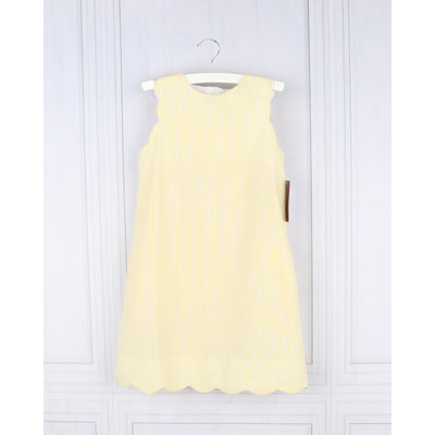 Gabby Yellow Seersucker Shift Dress