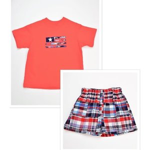 Funtasia, Too Flag Patchwork Boy Shorts Set