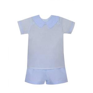 Lullaby Set Nicholas Short Sleeve Blue Short Set