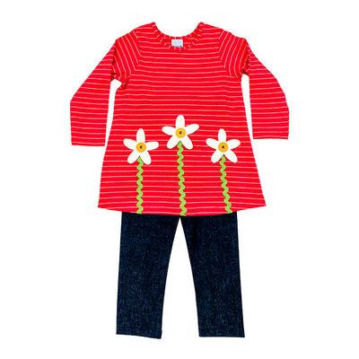 Bailey Boys Flower Tunic Pant Set