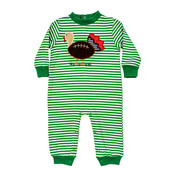 Bailey Boys Touchdown Turkey Knit Romper