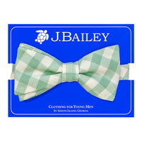 J Bailey Sage Check Bow Tie