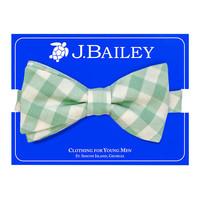 J Bailey Sage Check Bow Tie