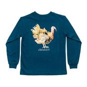 J Bailey Turkey on Teal Logo Tee