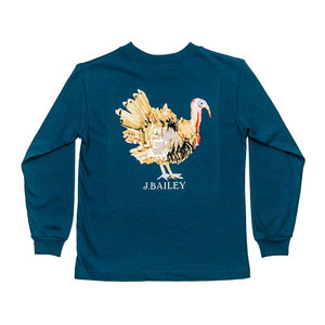 J Bailey Turkey on Teal Logo Tee
