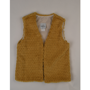 Maggie Breen Mustard Fur Vest