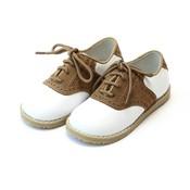 L'Amour White/Khaki Saddle Shoe