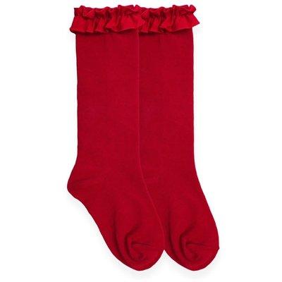 Jefferies Socks Ruffled Knee Socks