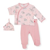 Magnificent Baby Pink Little One Modal Magnetic 3Pc Kimono Set