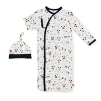 Magnificent Baby Raise the Woof Modal Magnetic Gown & Hat