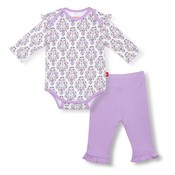 Magnificent Baby Unicorn Dreams Organic Bodysuit & Pant