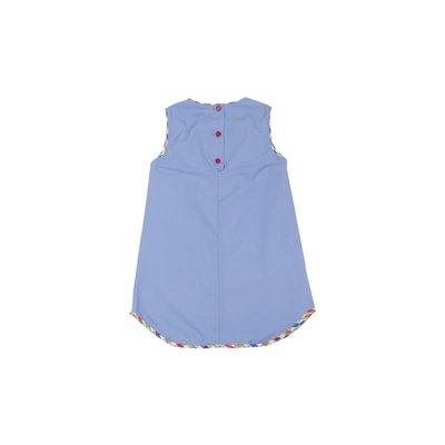 Beaufort Bonnet Company Park City Periwinkle/Pinecrest Plaid Annie ABC Apron Dress