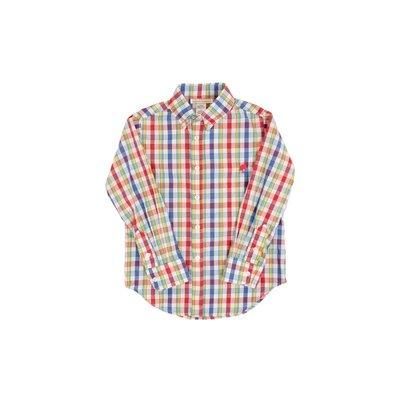 Beaufort Bonnet Company Pinecrest Plaid/Richmond Red Deans List Dress Shirt